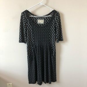 Anthropologie Saturday Sunday Chevron Dress-Size S